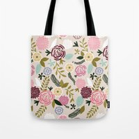 Folksy Garden 1  Tote Bag