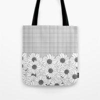 Daisy Grid Tote Bag