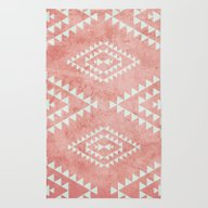 Rug featuring Mint & Coral Tribal Patt… by Dani