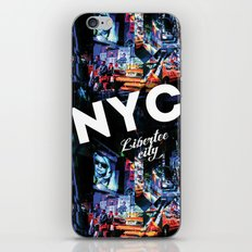 NEW-YORK (LIBERTEE CITY) iPhone & iPod Skin