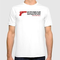 Silencer [reloaded] Mens Fitted Tee White SMALL