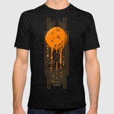 Pixel Planets : Mars Mens Fitted Tee Tri-Black SMALL