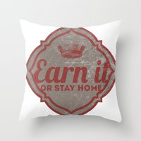 Earn It E-dub Throw Pillow