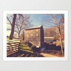 Rock Mill 4 Art Print