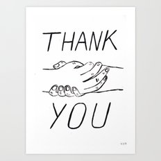 Thank You ! Art Print
