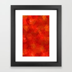 Orange Flames Framed Art Print