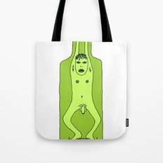 man in a bottle Tote Bag