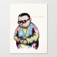 Notorious Plush Canvas Print