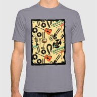 Jazz Rhythm (positive) Mens Fitted Tee Slate SMALL