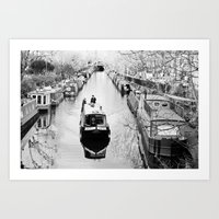 London Canal During Wint… Art Print