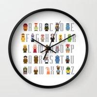 Pixel Muppet Show Alphab… Wall Clock
