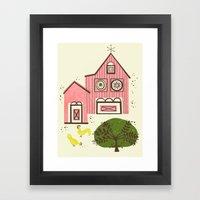 Farm House Pink Framed Art Print