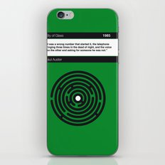 No024 MY City of Glass Book Icon poster iPhone & iPod Skin