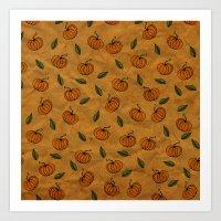 Autumn Texture Art Print