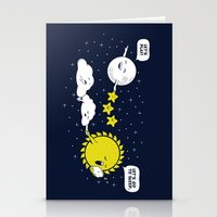 Night time, Day time Stationery Cards