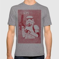 Storm Trooper Mens Fitted Tee Athletic Grey SMALL