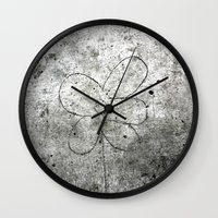 Sidewalk Flower Wall Clock