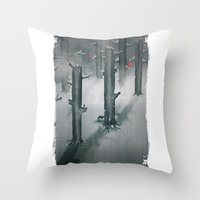 The Woods In Winter Throw Pillow