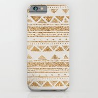 iPhone & iPod Case featuring Vintage Gold Tribal Stri… by Crystal ★ Walen