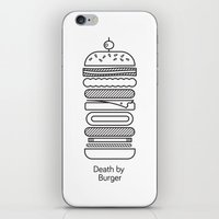 Death By Burger iPhone & iPod Skin