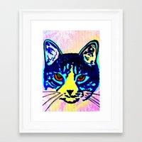 Pop Art Cat No. 2 Framed Art Print
