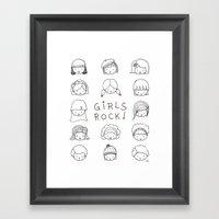Girls Rock! Framed Art Print