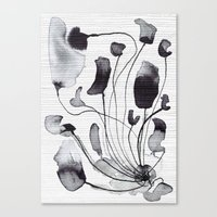 ink flowers Canvas Print