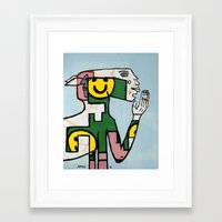Yawn Again Tristan Framed Art Print