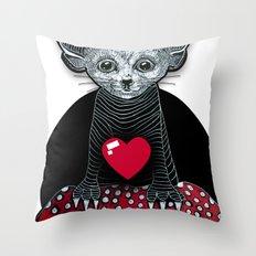 Little Fenek:::Big-hearted Throw Pillow