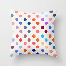 Polka Proton  Throw Pillow