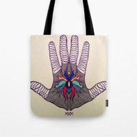 Hand Of Happiness  Tote Bag
