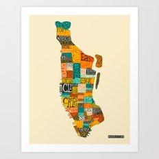 MANHATTAN NEIGHBORHOODS Art Print