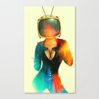 SEX ON TV - GOLDEN PUSSYCAT by ZZGLAM Canvas Print