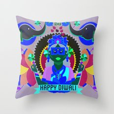 Goddess Lakshmi from India Throw Pillow