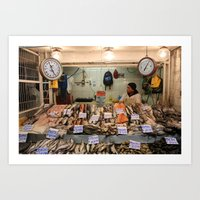 Mercado Central, Santiago, Chile Art Print