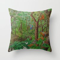 A Day Of Forest (1). (wa… Throw Pillow