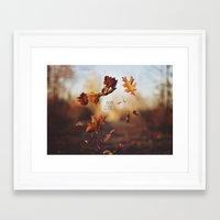 Autumn leaves as quickly as it arrives. Framed Art Print