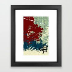 The Bench Framed Art Print