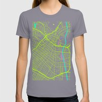 2nd Biggest Cities Are Cities Too - Los Angeles Womens Fitted Tee Slate SMALL