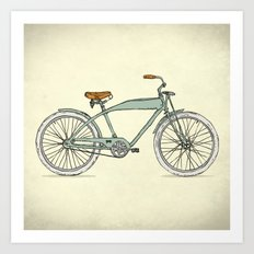 Retro-bicycles (1903) Art Print