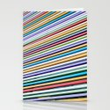 Colored Lines On The Wall Stationery Cards