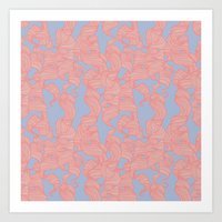 Trailing Curls // Pink &… Art Print