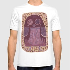 Owl Mens Fitted Tee SMALL White