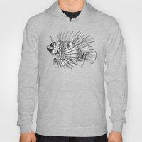 fish mirage black white Hoody