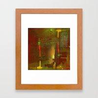 Shady city Framed Art Print