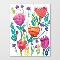 Natasha Flower Canvas Print