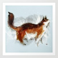 Calico Cat On Canvas Art Print