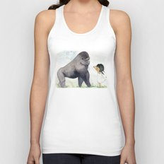 Hug me , Mr. Gorilla Unisex Tank Top
