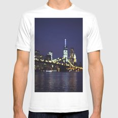 City Lights SMALL Mens Fitted Tee White