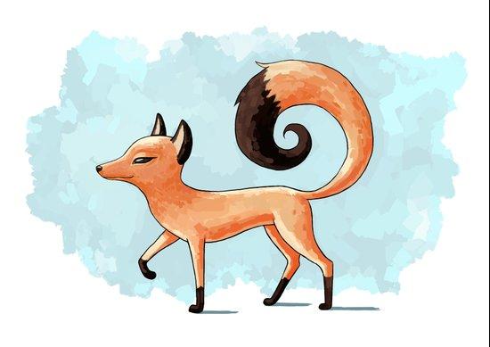 Proud Fox Art Print